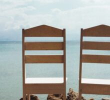 Two Empty Chairs On Beach Sticker