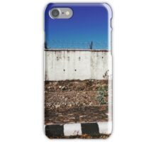 Wall With Barbed Wire iPhone Case/Skin