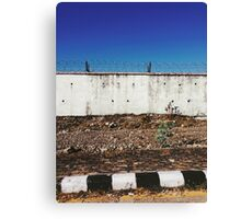 Wall With Barbed Wire Canvas Print