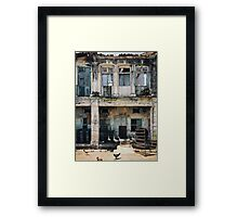 Decaying Colonial Building Framed Print
