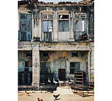 Decaying Colonial Building Photographic Print