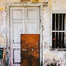 Closed Door in Old Building by visualspectrum