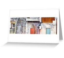 Old Cement Wall Panorama Greeting Card