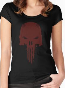 Daredevil / Punisher Women's Fitted Scoop T-Shirt