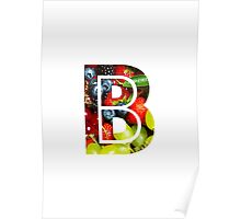 The Letter B - Fruit Poster