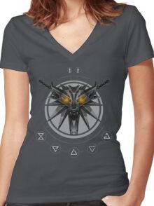 The White Wolf Arsenal Women's Fitted V-Neck T-Shirt