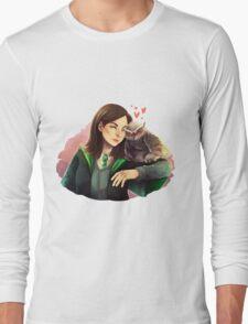 Doctor Who - Clara and owl!Twelve Long Sleeve T-Shirt