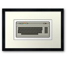 Commodore 64 Pixel Art Framed Print