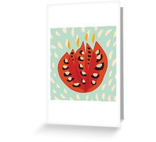 Abstract Red Tulip Greeting Card