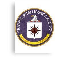 Distressed CIA Logo Canvas Print