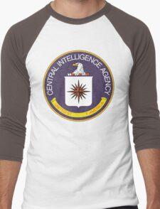 Distressed CIA Logo Men's Baseball ¾ T-Shirt