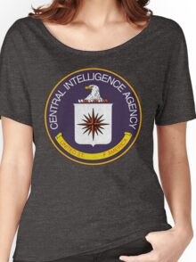 Distressed CIA Logo Women's Relaxed Fit T-Shirt