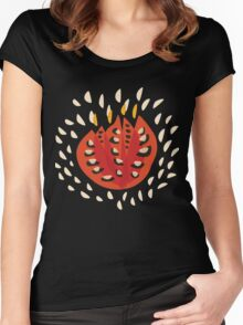Abstract Red Tulip Women's Fitted Scoop T-Shirt