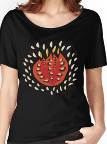 Abstract Red Tulip Women's Relaxed Fit T-Shirt