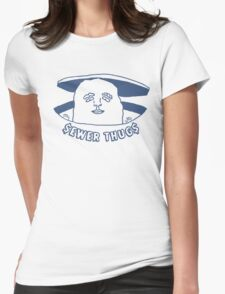The Sewer Thug (Navy Blue) Womens Fitted T-Shirt