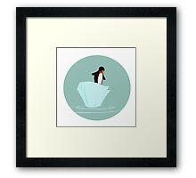 A penguin with a bowtie Framed Print
