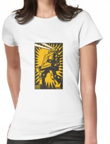 Black Robot Womens Fitted T-Shirt