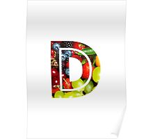 The Letter D - Fruit Poster