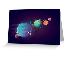 Vivid colorful alien planets Greeting Card