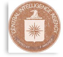 Distressed Vintage CIA Logo Canvas Print