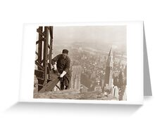 Empire State Building Construction Greeting Card