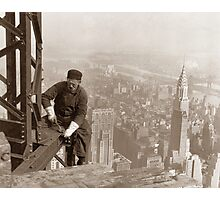 Empire State Building Construction Photographic Print