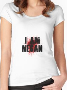 I Am Negan Women's Fitted Scoop T-Shirt