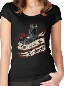 Embrace the Darkness Women's Fitted Scoop T-Shirt