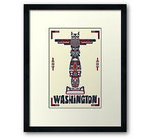 Washington State Poster Framed Print