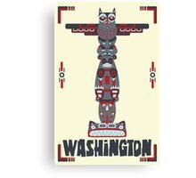 Washington State Poster Canvas Print