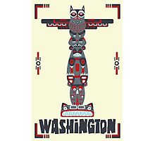 Washington State Poster Photographic Print