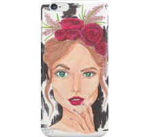 Do You Like the Roses in My Hair iPhone Case/Skin