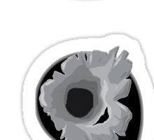 Semi colon; Bullet Holes........Charity addition Sticker
