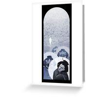 Geisha Nigh Walk Greeting Card