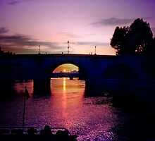 Cruising the Seine at Sunset by haymelter