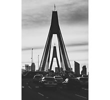 Traffic at Sunset, ANZAC Bridge Photographic Print