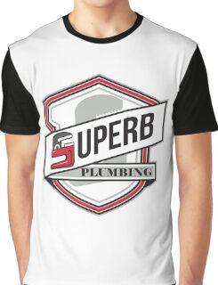 Superb Plumbing Shield Retro Graphic T-Shirt