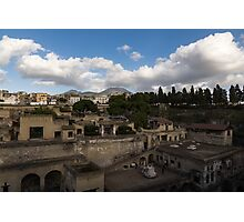 Ancient Herculaneum Ruins - Panoramic View from the Top Photographic Print
