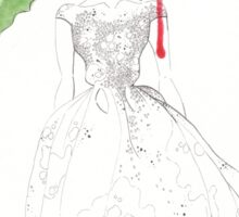 Rose Red Goes To The Ball. Sticker