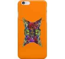 Artificial neural style Space galaxy mirror cat iPhone Case/Skin