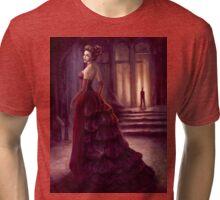 Fantasy Lady in Dark Chamber Digital Painting Tri-blend T-Shirt