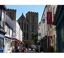 Looking along Kirkgate to Ripon Cathedral Photographic Print