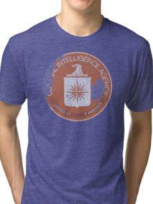 Distressed Vintage CIA Logo (Damaged) Tri-blend T-Shirt