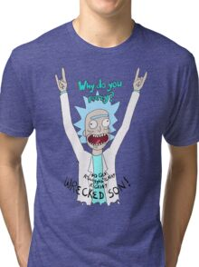 Why do you party? Tri-blend T-Shirt