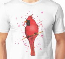 A Northern cardinal bird watercolor Unisex T-Shirt