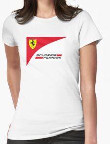 logo Scuderia Ferrari team formula one Womens Fitted T-Shirt