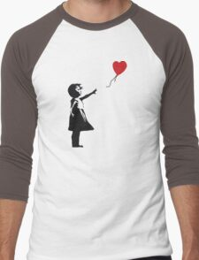 Banksy - Girl with Balloon Men's Baseball ¾ T-Shirt
