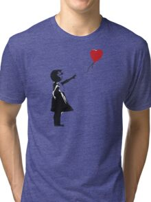 Banksy - Girl with Balloon Tri-blend T-Shirt