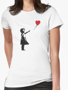 Banksy - Girl with Balloon Womens Fitted T-Shirt