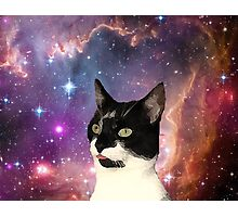 Cat Tongue In Space Photographic Print